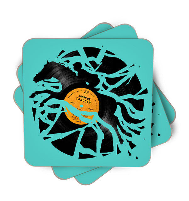 Disk Jockey Single Piece, Coasters - ultykhopdi - Design By Enkel Dika, ultykhopdi.com