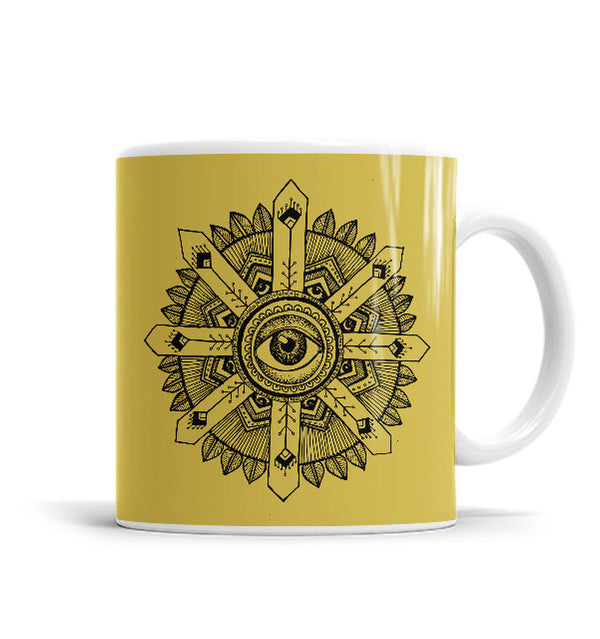 Eye 11 OZ Ceramic Mug, Mugs - ultykhopdi - Design By Agni Janakiram, ultykhopdi.com