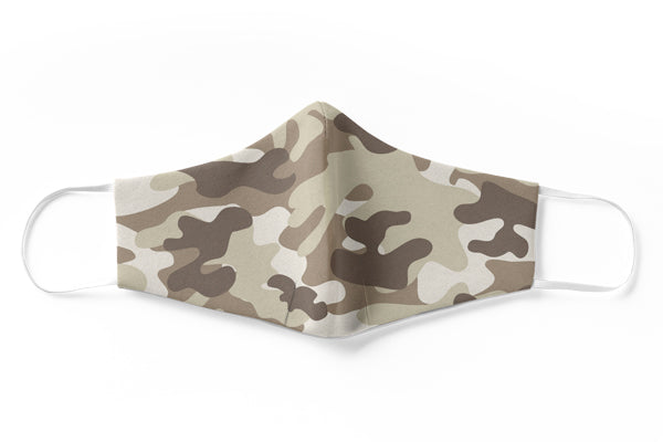 Camo 1 Face Mask (3 Layer)