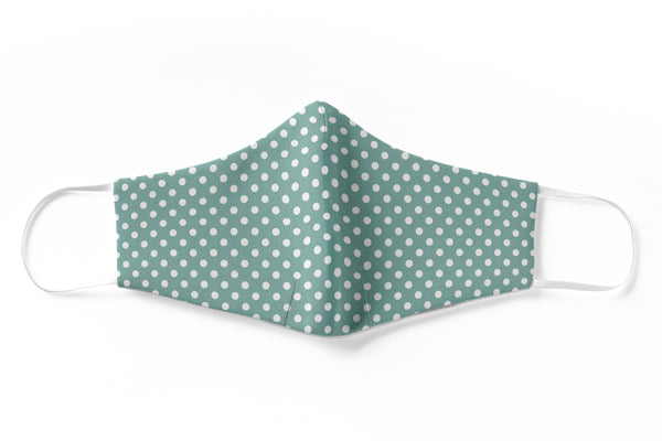 Dainty Green Polka Face Mask (3 Layer)
