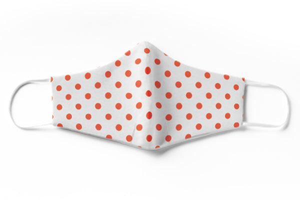 Polka Red Face Mask (3 Layer)