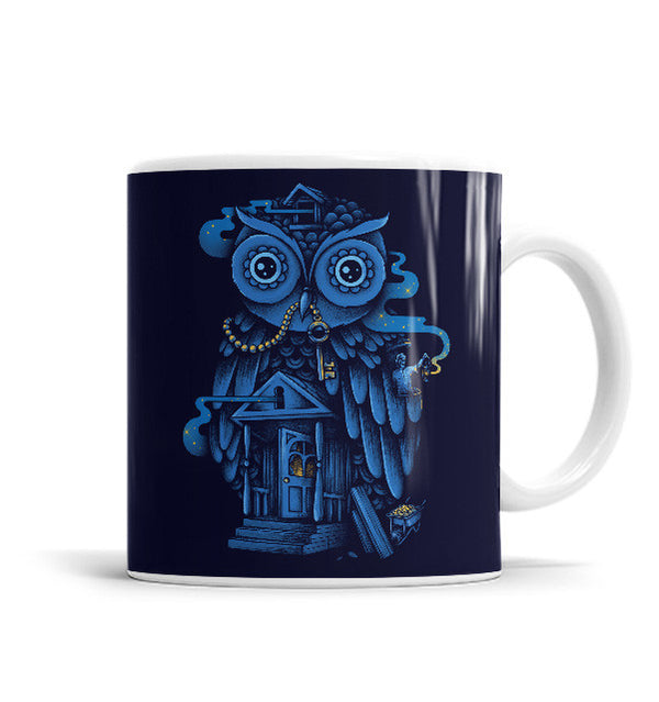 Guardian Of The Night 11 OZ Ceramic Mug, Mugs - ultykhopdi - Design By Enkel Dika, ultykhopdi.com