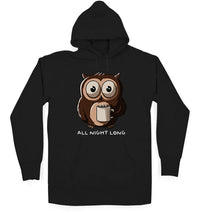 All Night Long Unisex / Black / Small, Hoodies - Ultykhopdi - Design By Ledude, ultykhopdi.com - 2