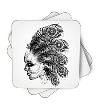 Indian Ghost Single Piece, Coasters - ultykhopdi - Design By Daniac, ultykhopdi.com