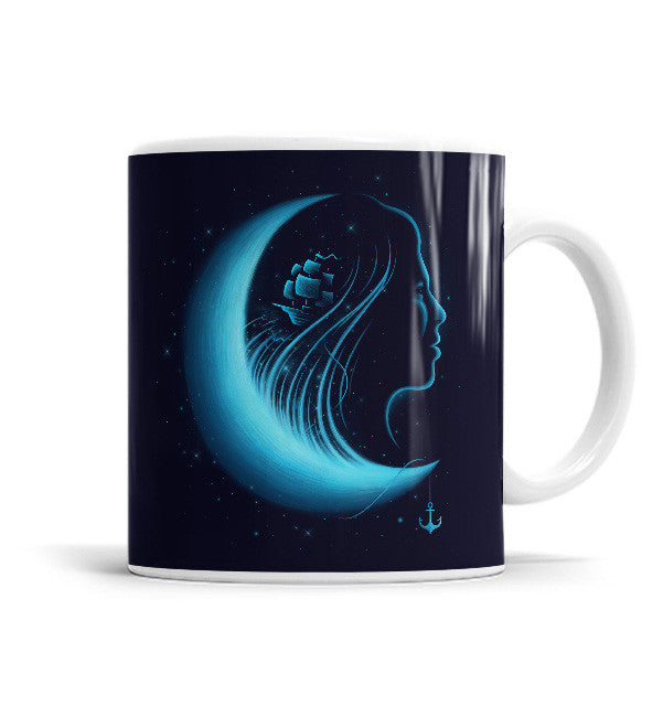 Moonlight Grace 11 OZ Ceramic Mug, Mugs - ultykhopdi - Design By Enkel Dika, ultykhopdi.com