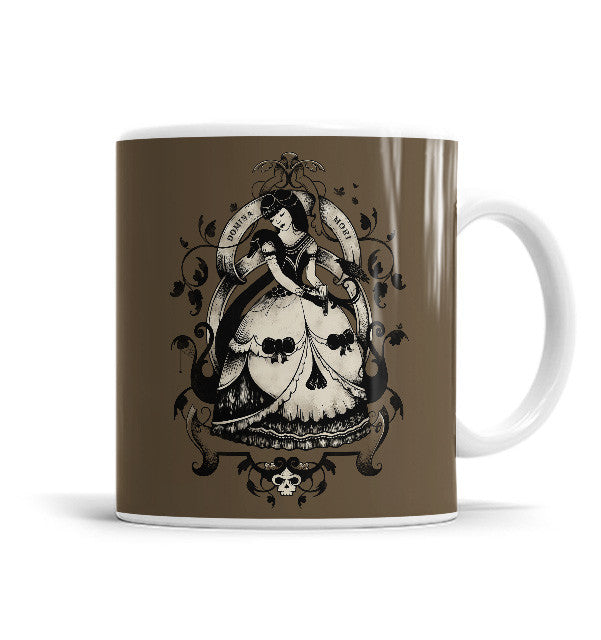 Mrs Death 11 OZ Ceramic Mug, Mugs - ultykhopdi - Design By Enkel Dika, ultykhopdi.com