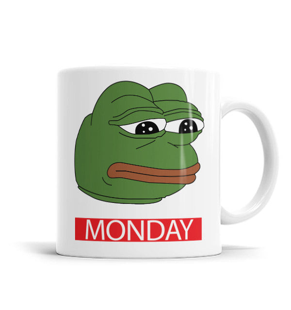 Monday Pepe 11 OZ Ceramic Mug, Mugs - ultykhopdi - Design By Mel0, ultykhopdi.com
