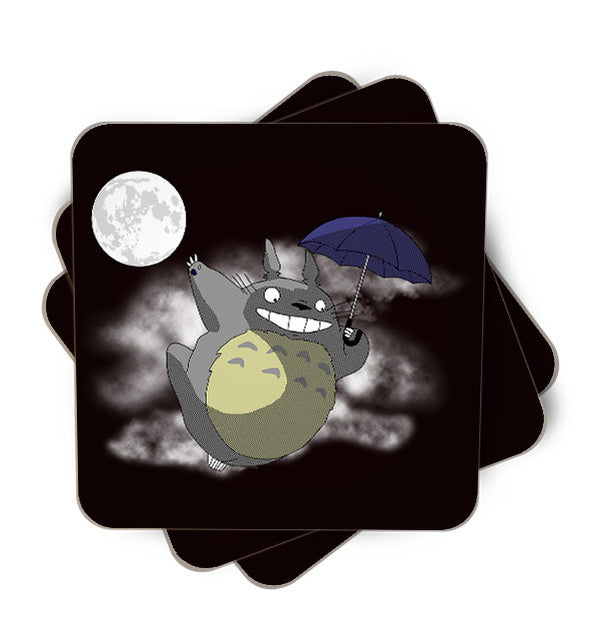 Neighbour Under The Moon Single Piece, Coasters - ultykhopdi - Design By Ddjvigo, ultykhopdi.com