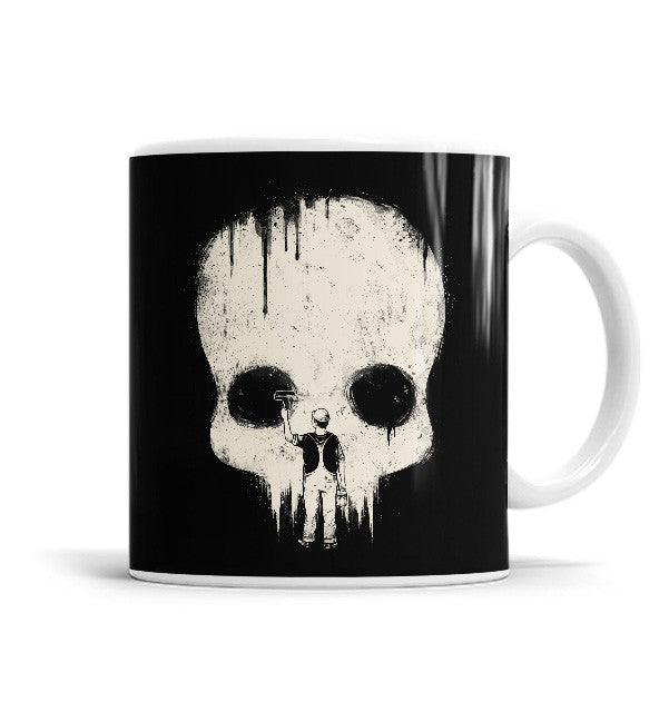 Paint It Black 11 OZ Ceramic Mug, Mugs - ultykhopdi - Design By Enkel Dika, ultykhopdi.com