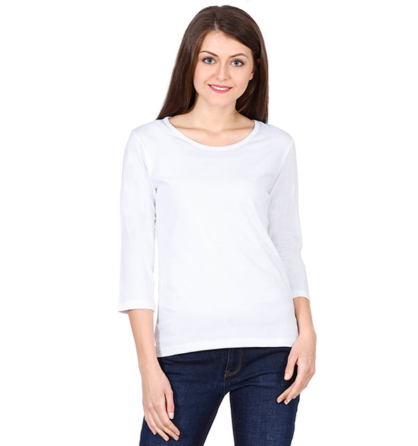Solid White Full Sleeve T-shirt
