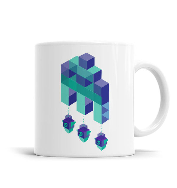 Space Invader 11 OZ Ceramic Mug, Mugs - ultykhopdi - Design By Daniac, ultykhopdi.com