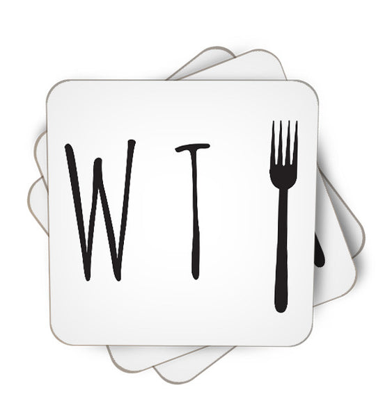 What The Fork Single Piece, Coasters - ultykhopdi - Design By Vectorik, ultykhopdi.com