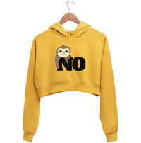 No, Not Lazy Crop Hoodie