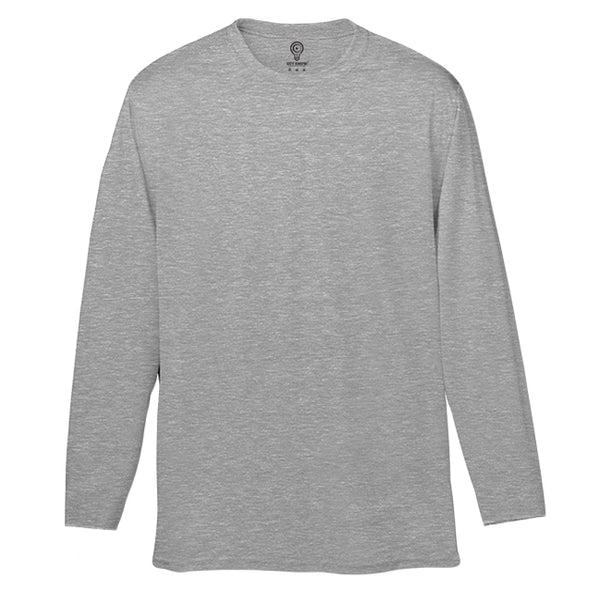 Solid Grey Full Sleeve T-shirt