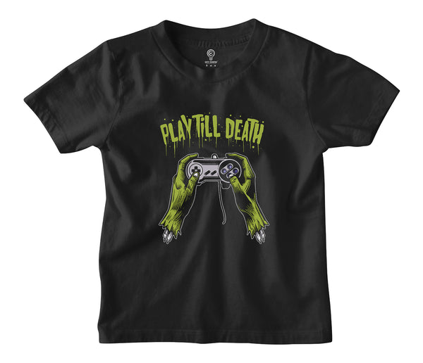 Play Till Death Kids Tshirt