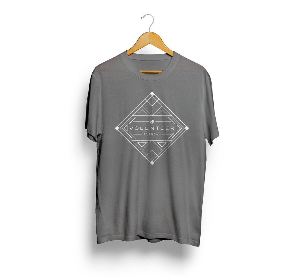 IF:Gathering Volunteer Tee Geometric Design