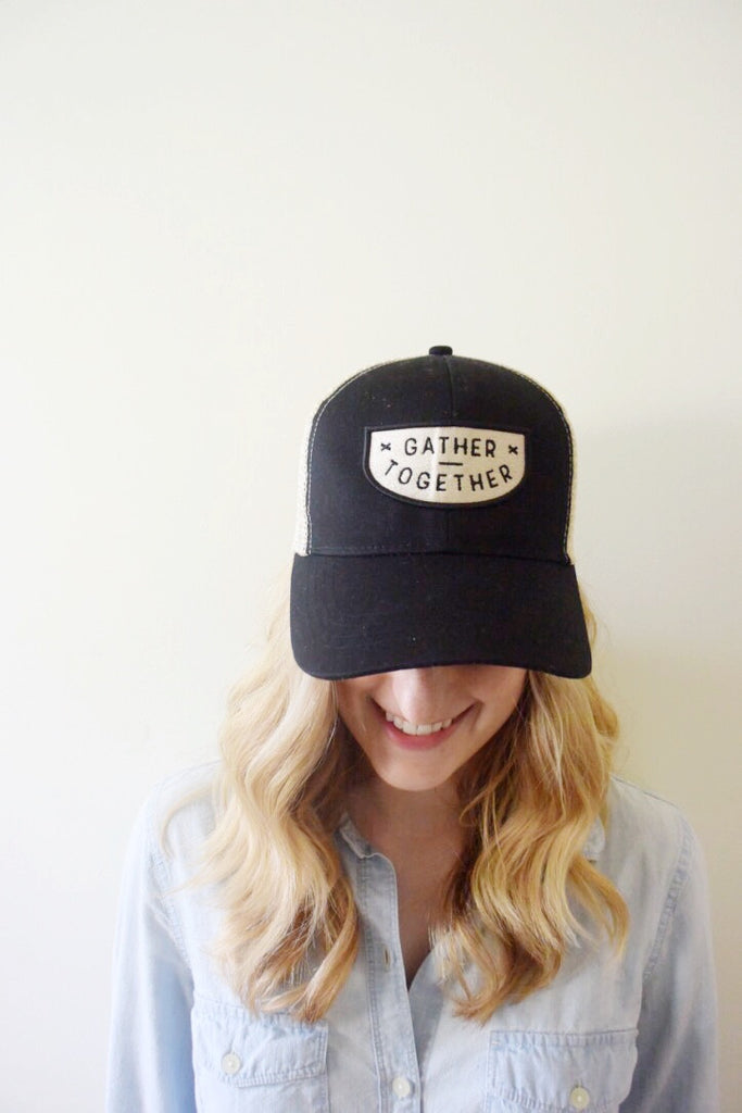 Gather Together Trucker Hat Front Shot
