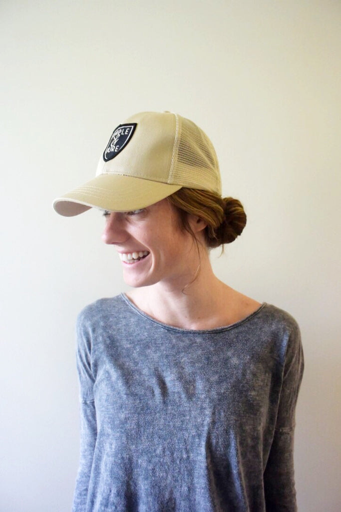 Simple and Pure Trucker Hat Model Shot