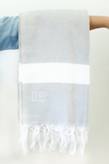 Cotton Gray and White IF:Gathering Logo Turkish Towel