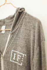IF:Gathering Logo Grey Zip Up Hooded Sweatshirt