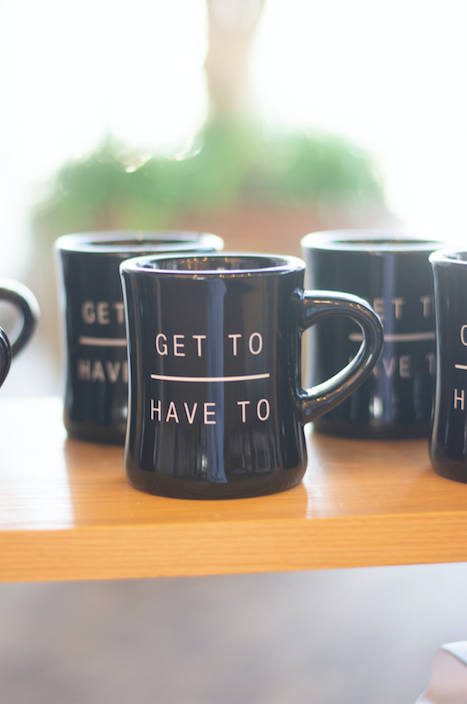 Get To Over Have To Black Diner Mug
