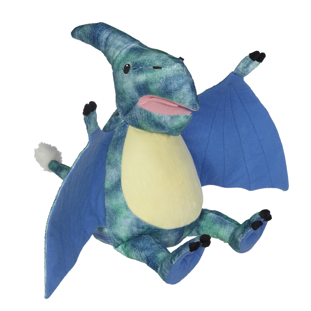 Blue dino with wings