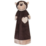 "20"" Personalized Cuddle Blanket - Monkey - Christine Taylor Designs"