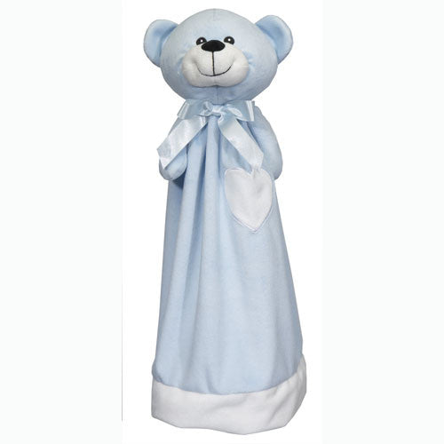"20"" Personalized Cuddle Blanket - Blue Bear"