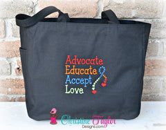 Autism Awareness Tote Bags - Design your own - Christine Taylor Designs