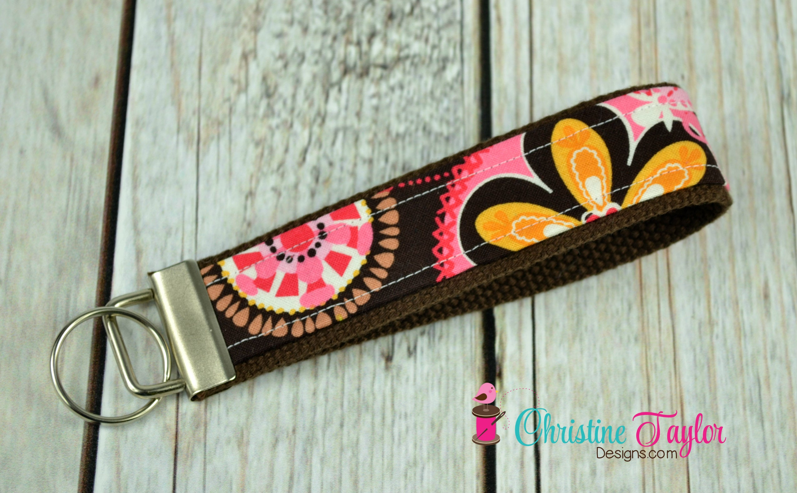 READY MADE Key Fob - Carnival Bloom - Christine Taylor Designs