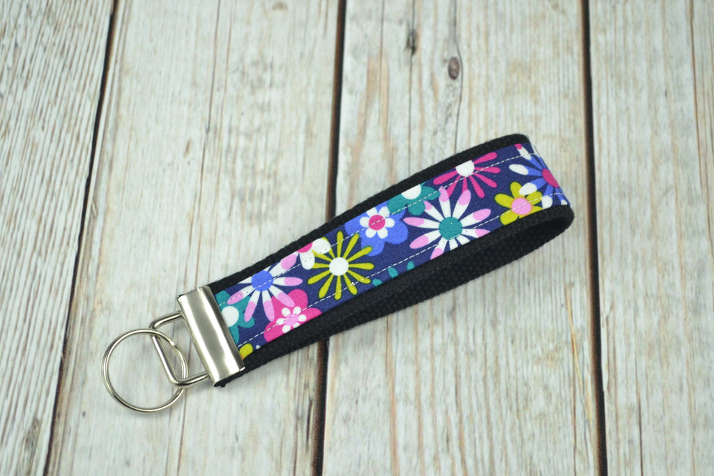 READY MADE Key Fob - blue floral