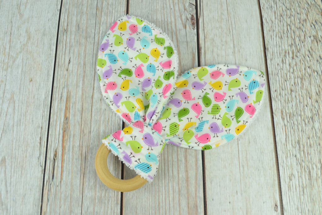 READY MADE Teething Ring - Tiny Birds