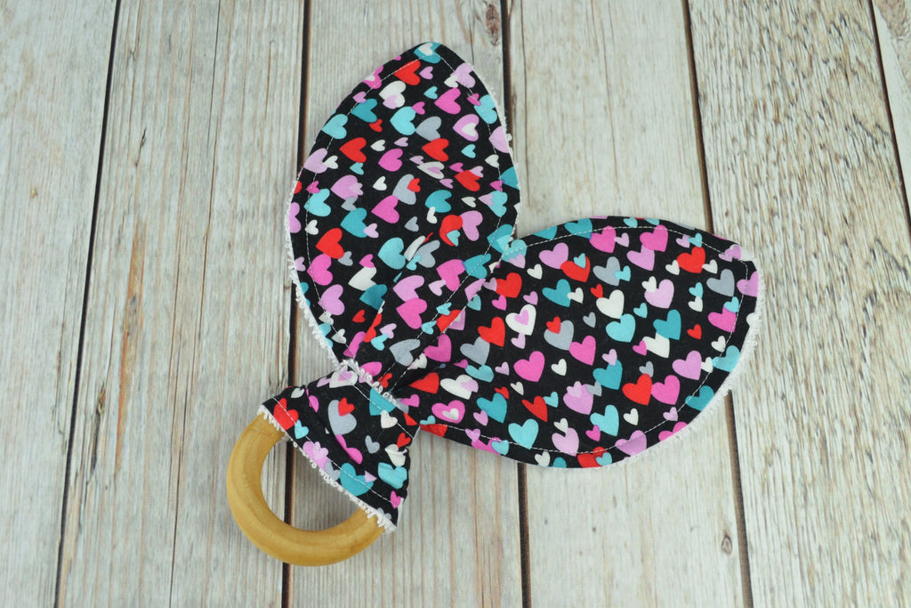 READY MADE Teething Ring - Hearts
