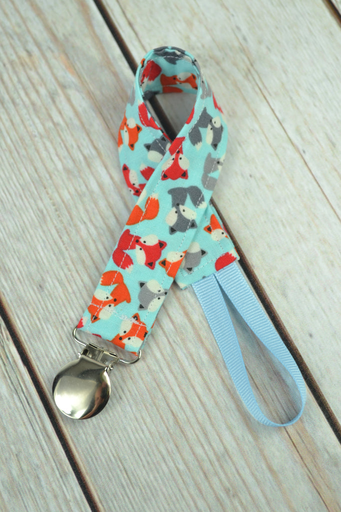 READY MADE Pacifier Clip - Tiny Fox