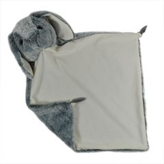 "20"" Grey Bunny Lovey - Christine Taylor Designs"