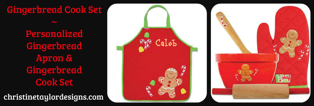 Stephen Joseph Apron and Cook Set - Gingerbread (Holiday Item)