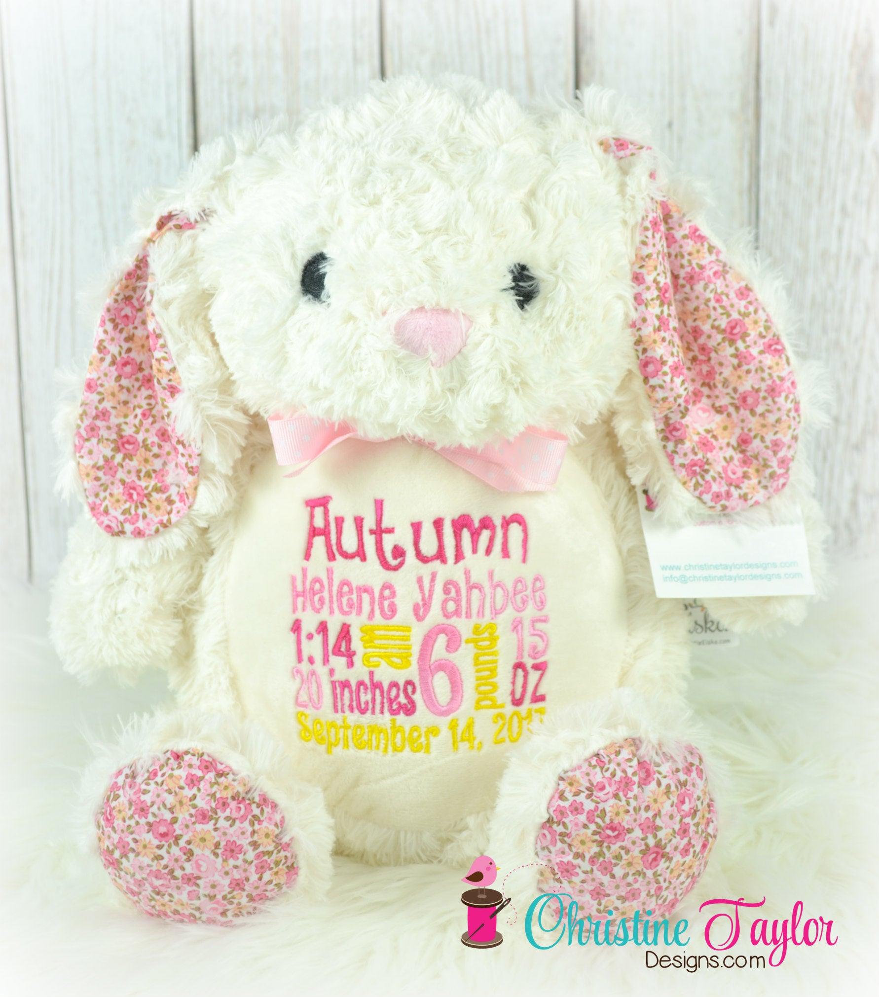 Floral Bunny - Christine Taylor Designs