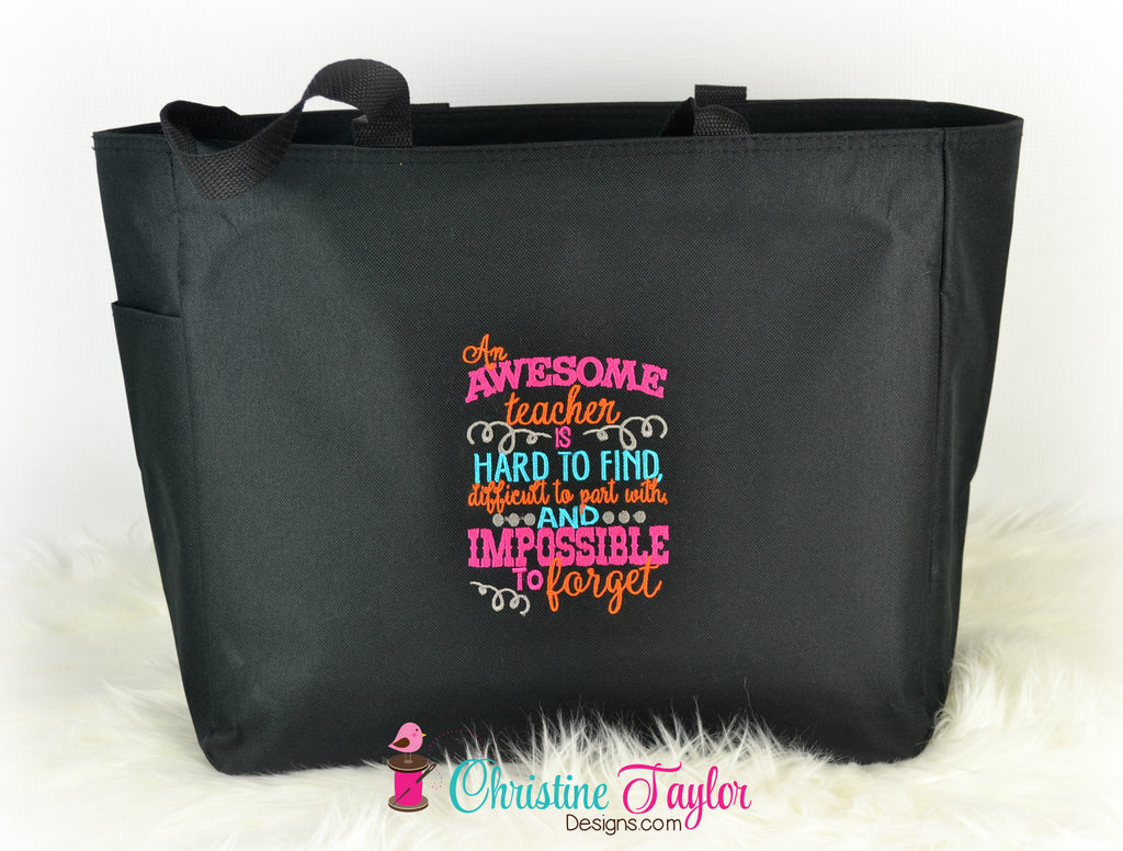 READY MADE Teacher Tote Bag - Awesome Teacher