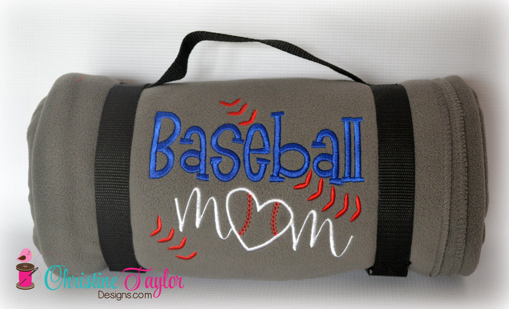 Baseball Mom Fleece Stadium Blanket