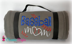 Baseball Mom Fleece Stadium Blanket - Christine Taylor Designs