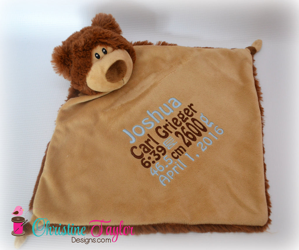 "Brown Bear - 13"" Cuddle Blanket"