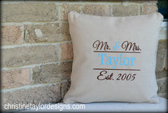 Personalized Throw Pillow - Christine Taylor Designs