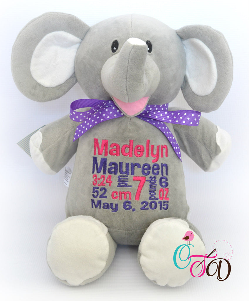 Personalized stuffed animals christine taylor designs brown bear 4995 elephant grey negle Image collections