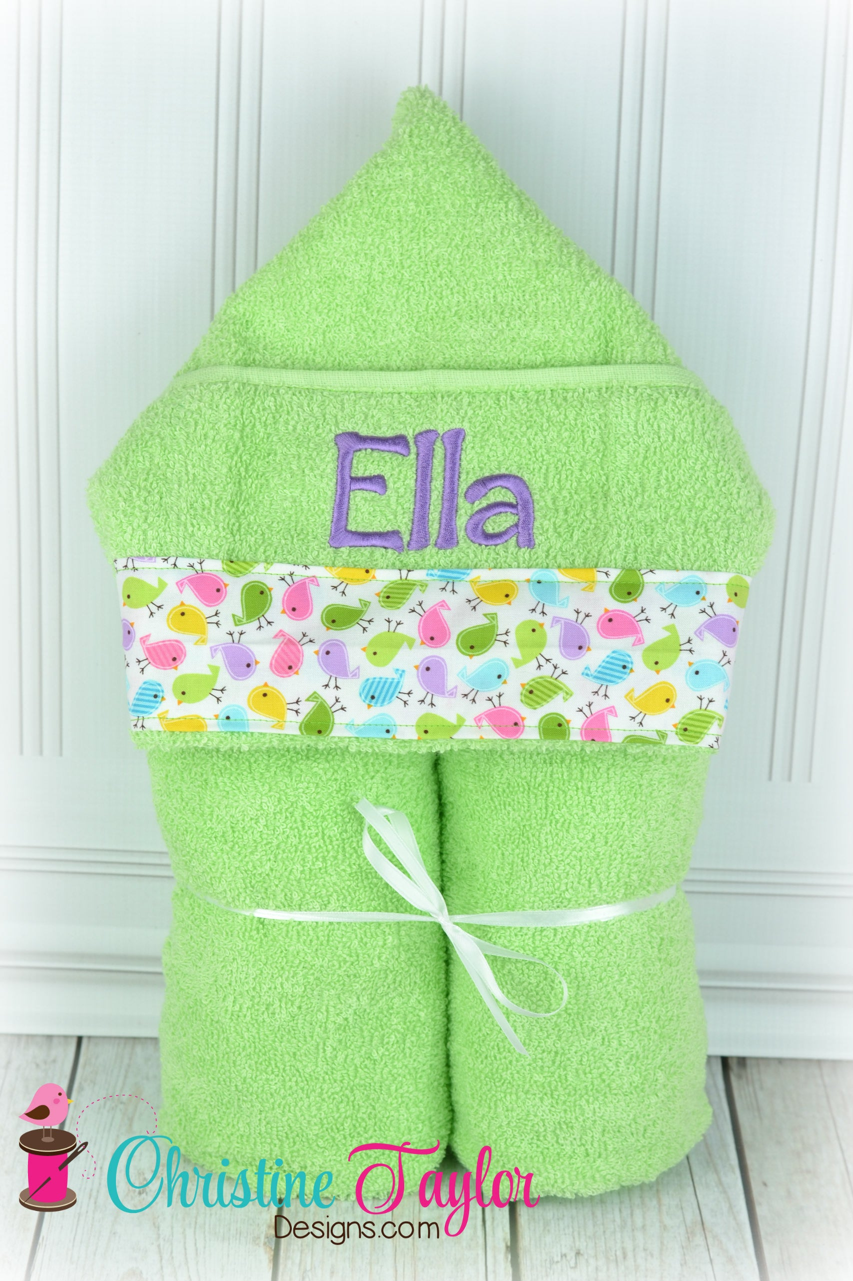 NEW Hooded Towel - Create your Own - Christine Taylor Designs