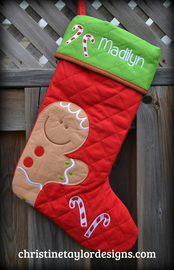 DISCONTINUED -  Gingerbread Stocking