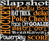 Hockey Mom Fleece Blanket - Hockey Words Design - Christine Taylor Designs