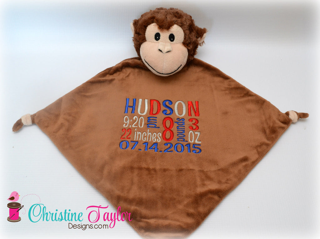 "Monkey - 13"" Cuddle Blanket"