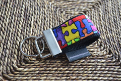 Autism Awareness - 1 mini finger key fob - Christine Taylor Designs