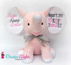 Dumble Elephant LIGHT PINK - Christine Taylor Designs