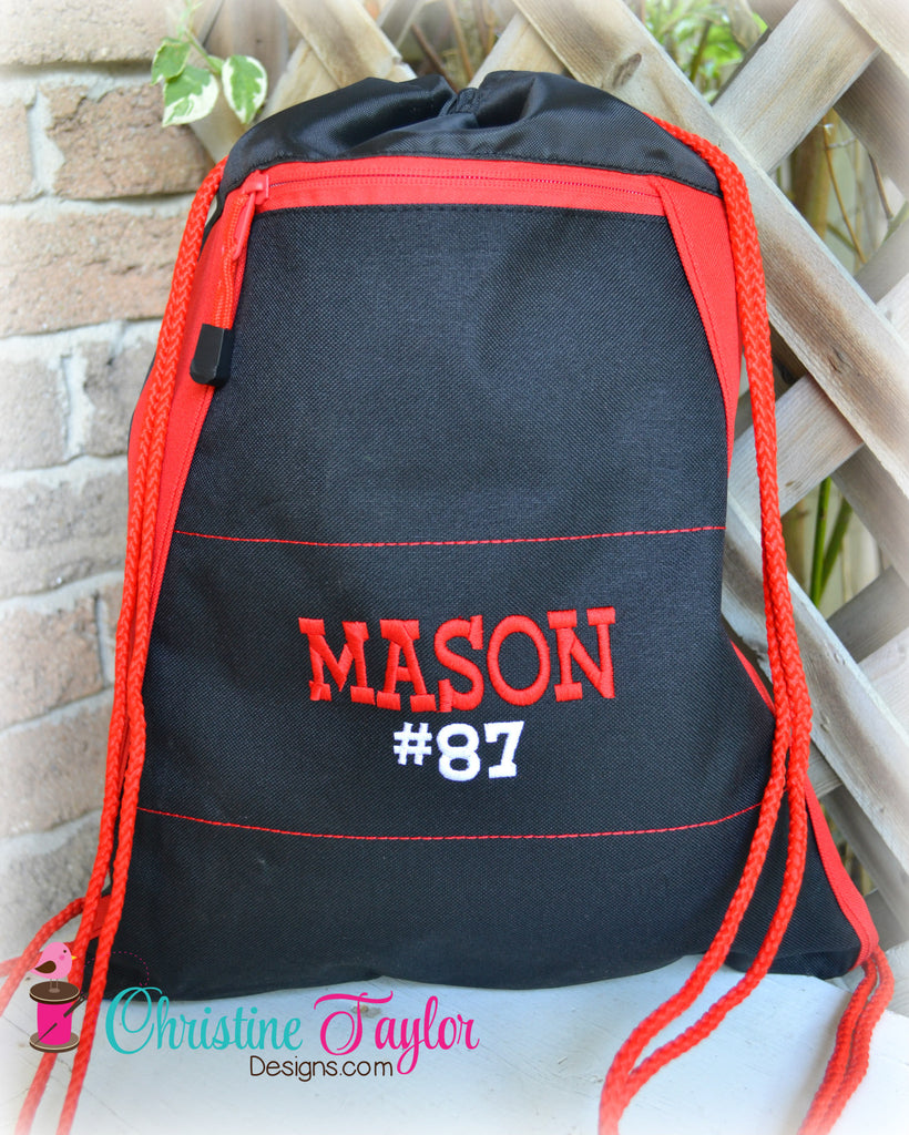 Personalized Cinch Bag - Various Colors